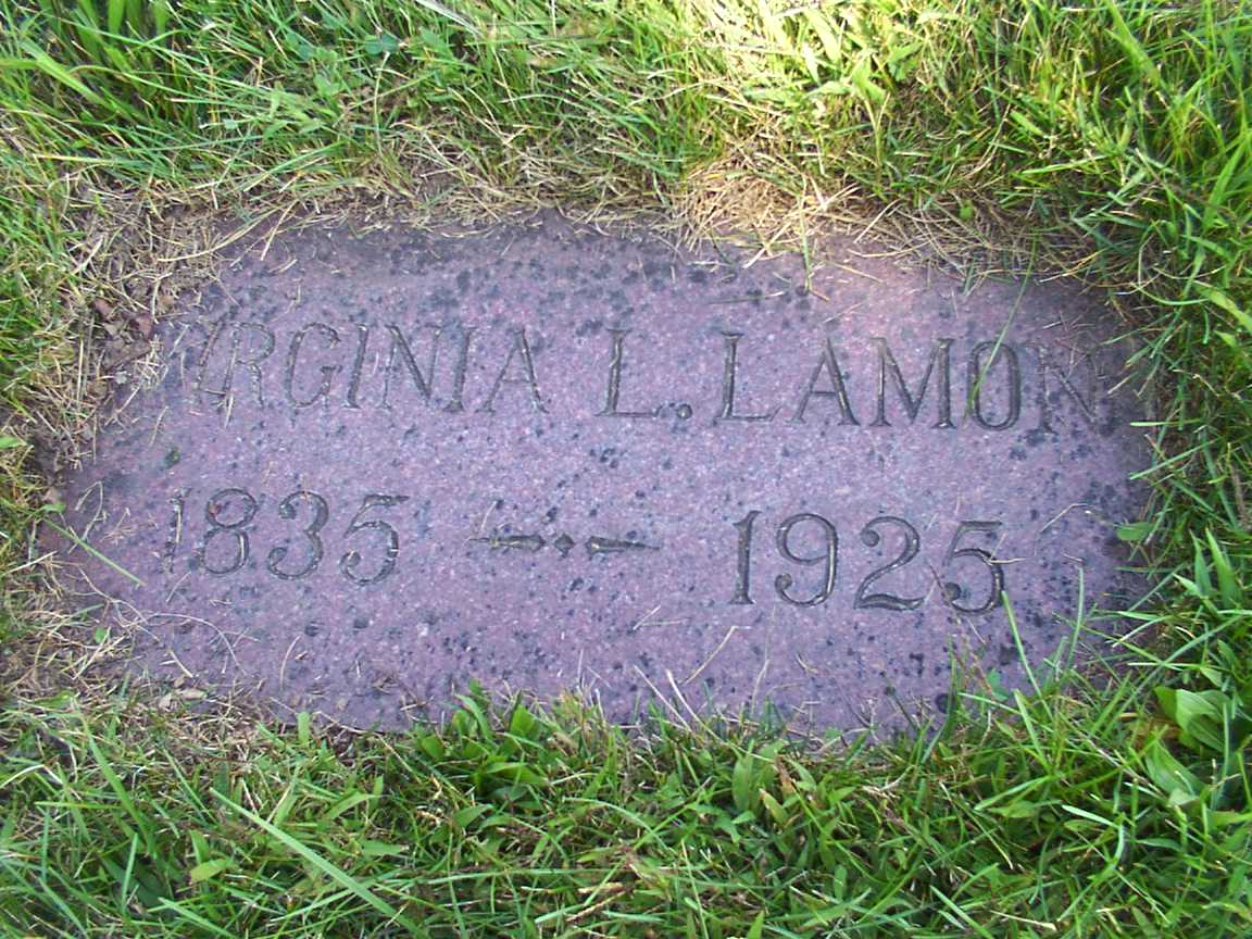 Gravesite of Virginia C. Lamon