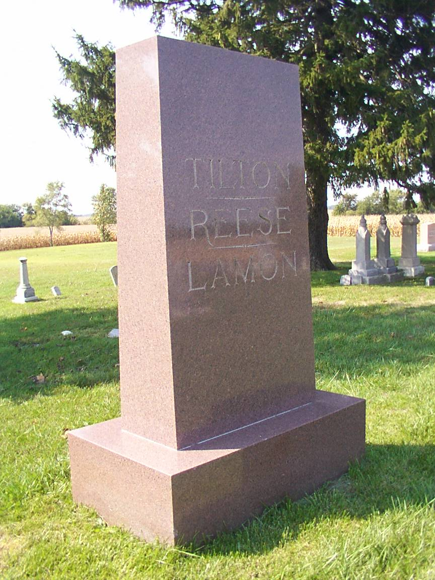 Gravesite Monument of Tilton, Reese and Lamon