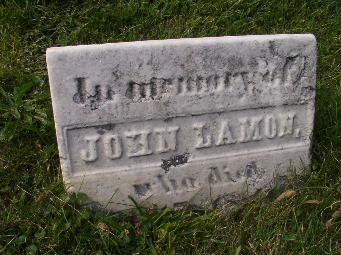 Gravesite of John E. Lamon