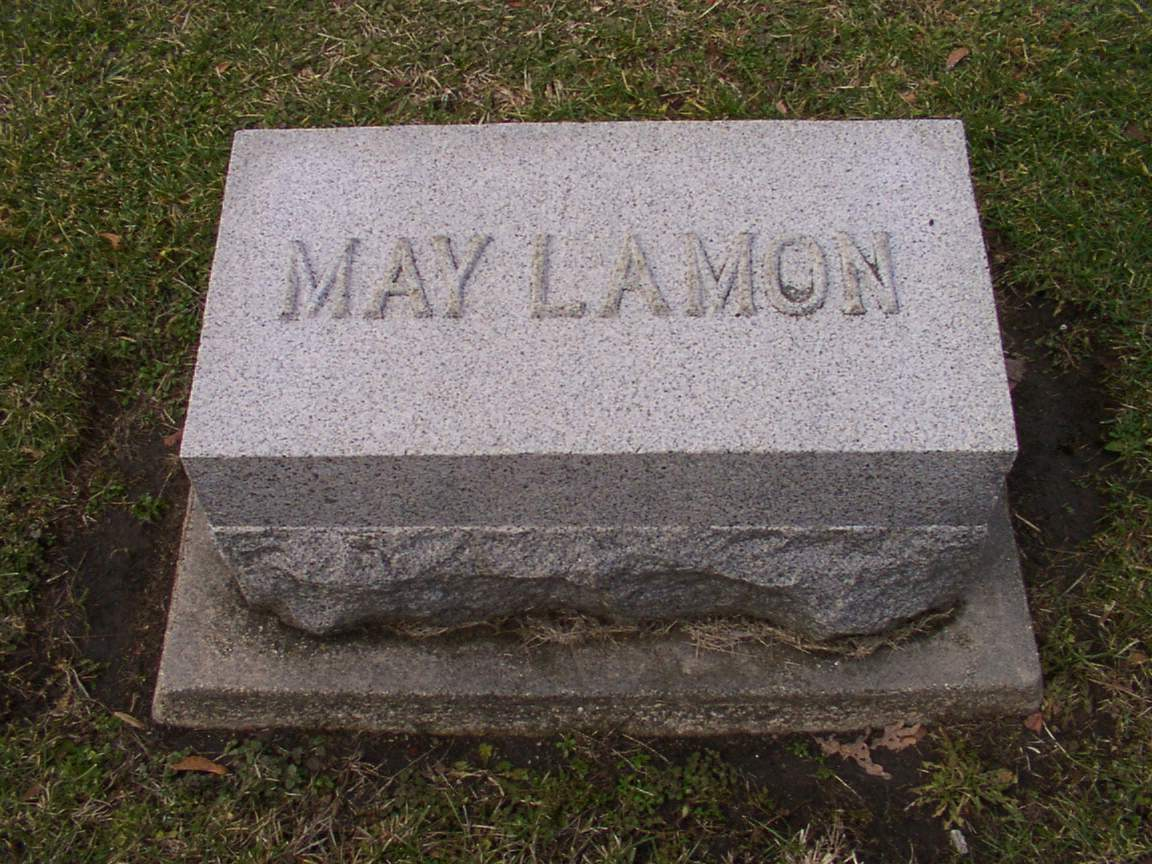 Grave of May Lamon
