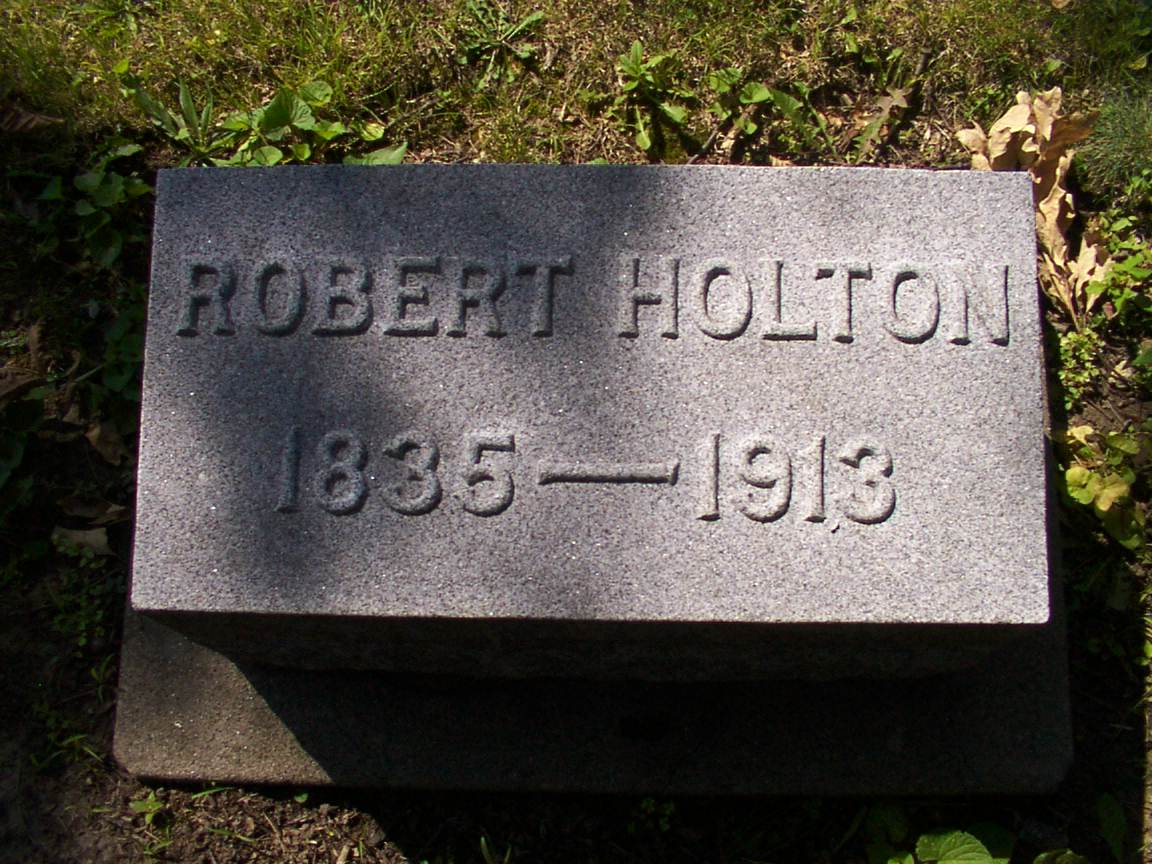 Gravesite of Robert Holton