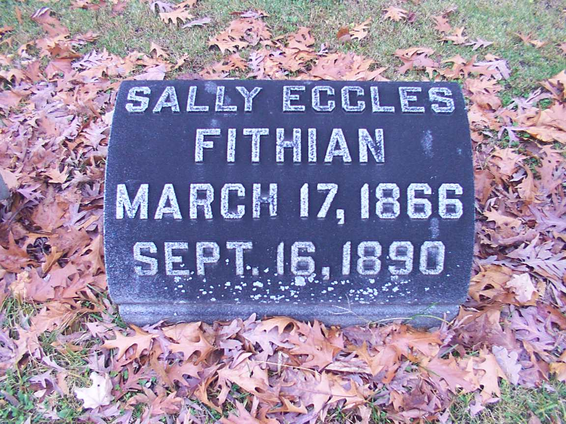 Sally Eccles Fithian Grave